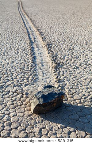 Death Valley Racetrack Playa Rock On Lakebed