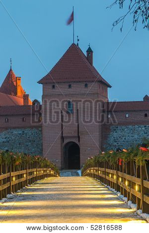 Gothic Island Castle in Trakai, Lithuania