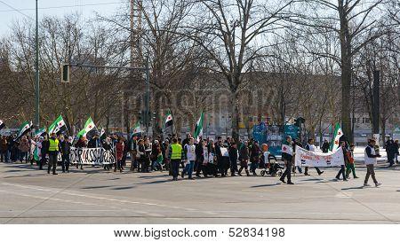 Anti-assad Opposition Demonstration Against Ruling Regime Of Bashar Al-assad