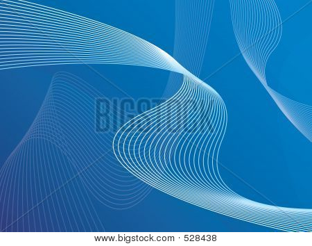 Blue 3 D Wire Ribbons