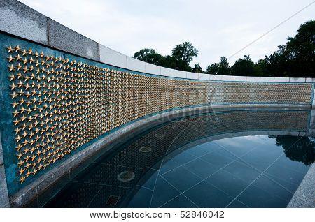 World War Ii Memorial In Washinton Dc, Usa