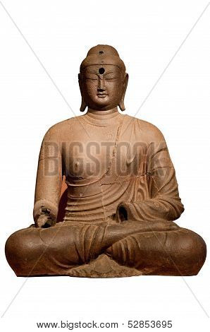 Buddha statue with isolated background