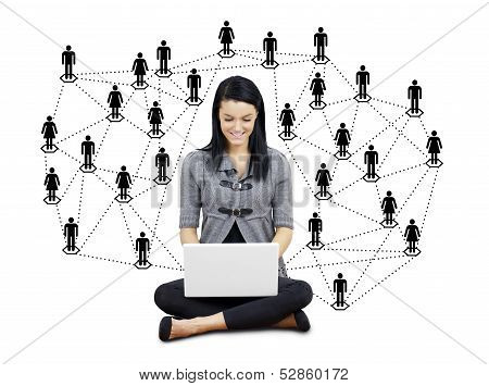 Young Woman With Network