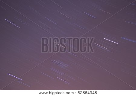 Long Exposure Orion on a Clear Night Sky poster