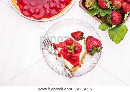 Cheese Cake And Strawberries
