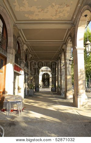 Old Colonnade in Barcelona