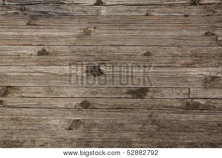 Old Gray Boards With Cracked Twigs