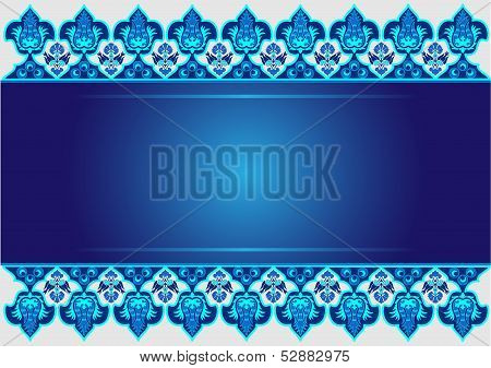 Blue Ottoman Serial Patterns Eleven