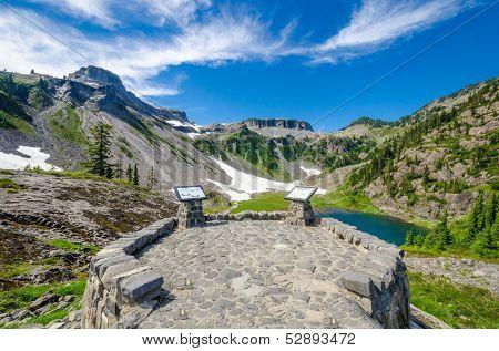 Fragment of Bagley Lakes Trail at Mount Baker Park in Washington, USA