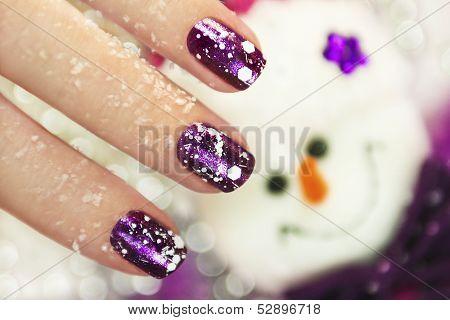 Winter manicure.