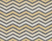 Yellow and Gray Zigzag Textured Fabric Background that is seamless and repeats poster