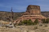 Chimney Rock at the San Rafael Swell in Emery County Utah showing Cedar Mountain in the background. poster