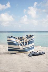 Beach Bag And Flip Flops