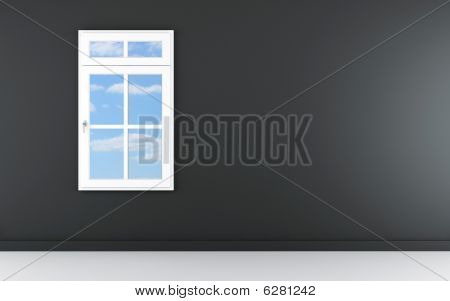 Blank Wall With Window