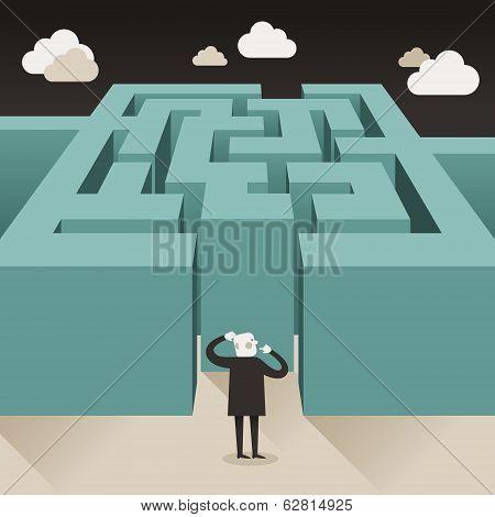 Flat Design Illustration Concept Of Challenge