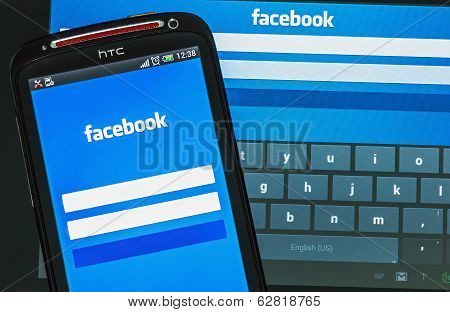 Facebook Sign In Page On Mobile Phone