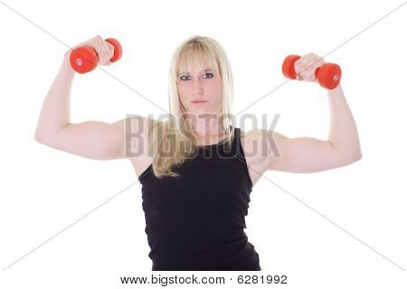 blonde with two weights