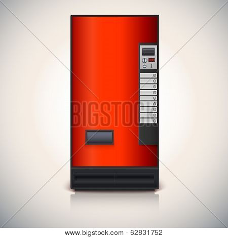 Vending machine for the sale of drinks.