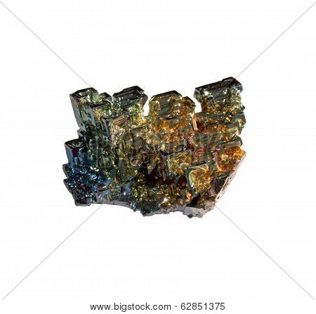 Bismuth Nugget On A White Background