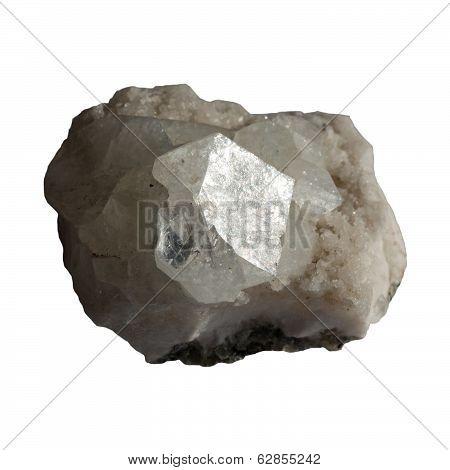 Mineral Apophyllite On White Background