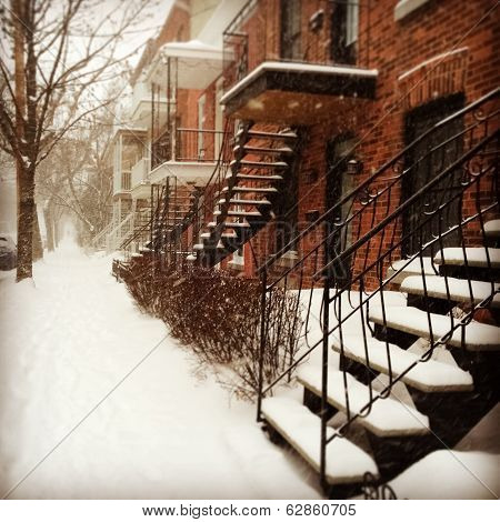 Snowstorm In Montreal