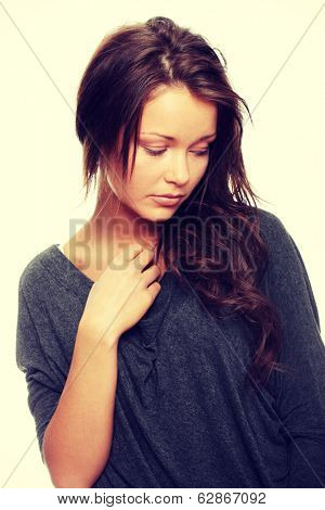 Young woman with depression