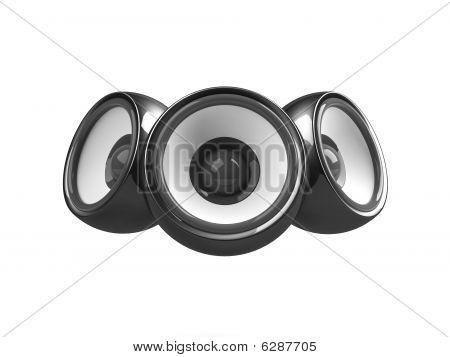 Black Audio System Isolated