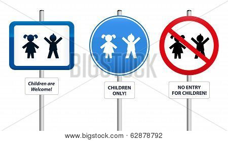 Signs of Children
