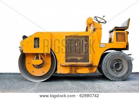 steamroller yellow