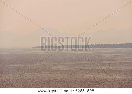 Hvar Island In Misty Weather