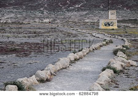 Pathway in the Volcanic Desert