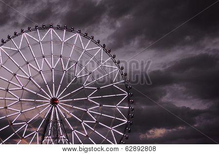 Ferris Wheel Against The Dark Sky