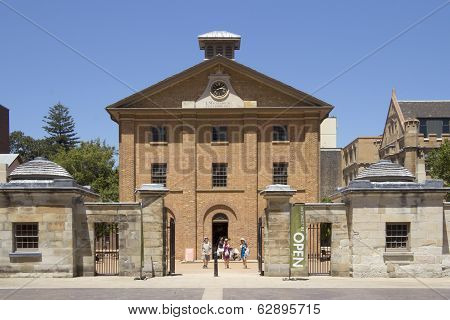 Sydney, Australia-december 19Th 2913: Tourists Leaving The Hyde Park Barracks Museum. The Building W