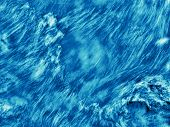 abstract blue and white dramatic water texture poster