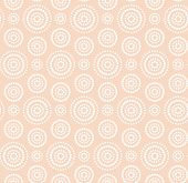 Dots circles white pattern on warm beige background poster