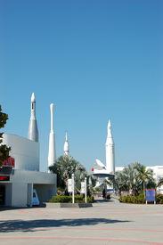 Historic Rocket Garden At Kennedy Space Center