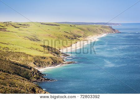 Landscape of the Australian coastline along South Australia's Fleurieu Peninsula poster