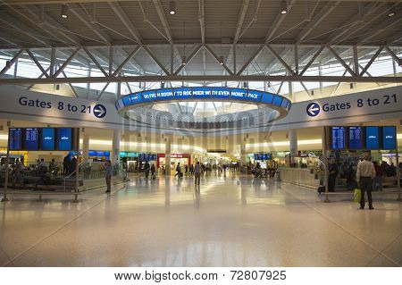 JetBlue Terminal 5 at John F Kennedy International Airport in New York