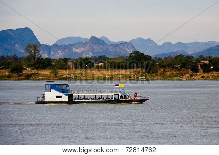 The boat in Mekong river