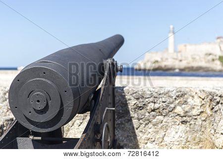 Old canon in Havana