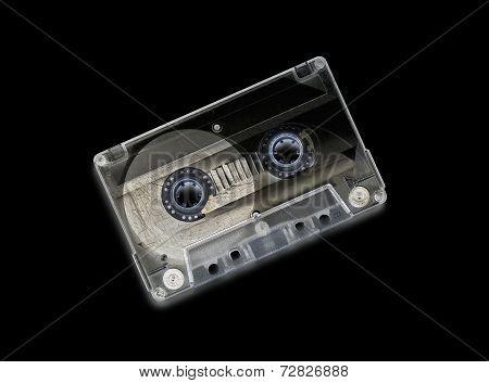 Vintage Audio Casette, Recto Side - Invert Effect