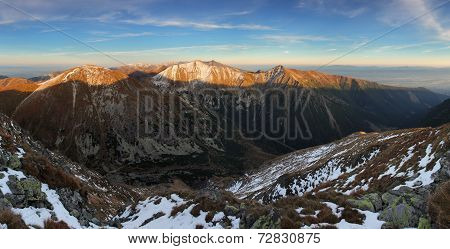 Panoramic view of West Tatras Slovakia - panorama poster