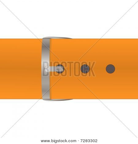 The orange belt isolated on a white background.