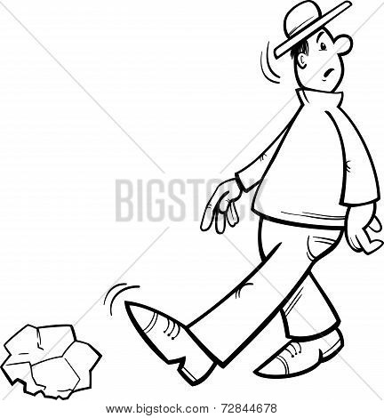 Inattentive Man Coloring Page