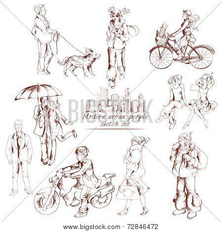 Urban people sketch