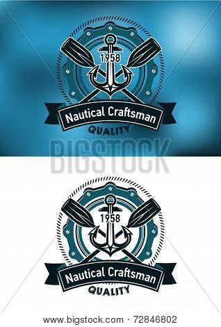 Nautical craftsman emblem