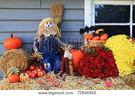 Thanksgiving Decoration Of Country House