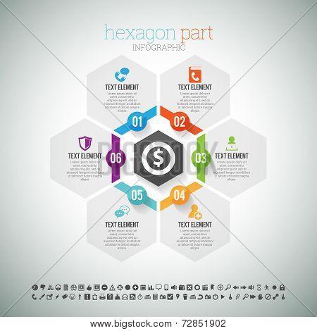 Hexagon Part Infographic