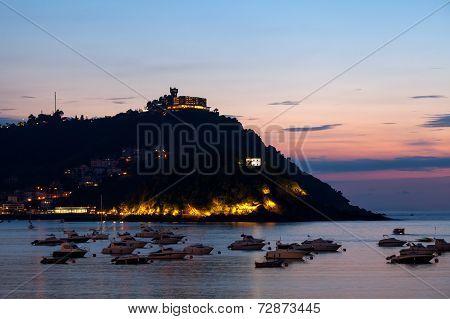 San Sebastian Bay and Monte Igueldo, Spain