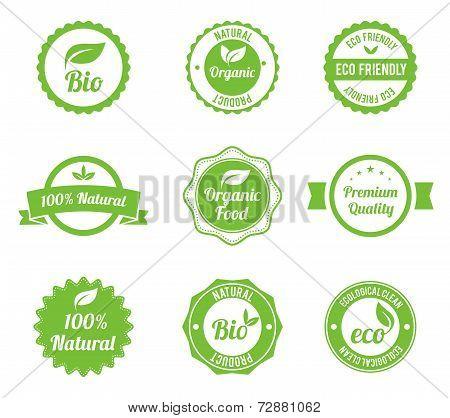 Eco Vintage Labels Bio template set.